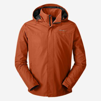 Men's Rainfoil Packable Jacket in Orange
