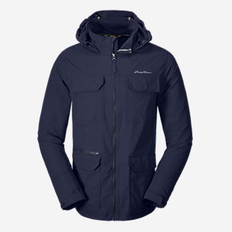 Men's Atlas Stretch Hooded Jacket in Blue