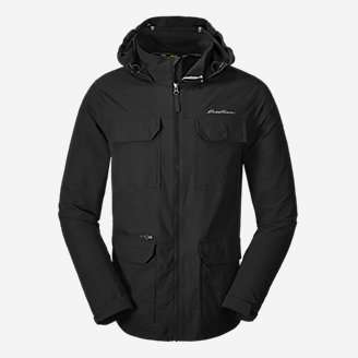 Men's Atlas Stretch Hooded Jacket in Black