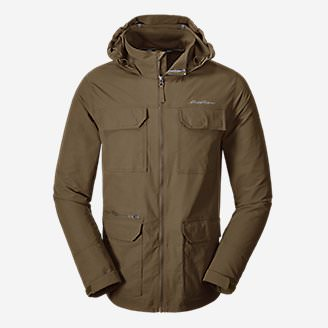 Men's Atlas Stretch Hooded Jacket in Brown