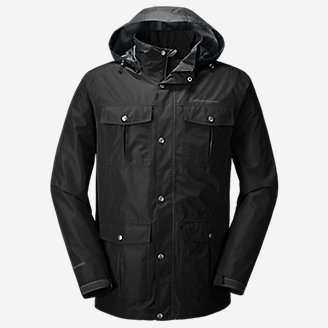 Men's Rainfoil Utility Jacket in Black