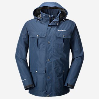 Men's Rainfoil Utility Jacket in Blue