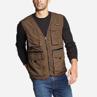 Men's Atlas Utility Vest in Brown