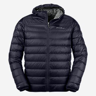 Men's CirrusLite Down Hooded Jacket in Blue