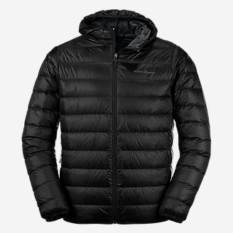 Men's CirrusLite Down Hooded Jacket in Black
