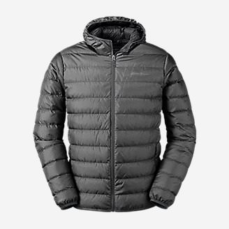 Men's CirrusLite Down Hooded Jacket in Gray
