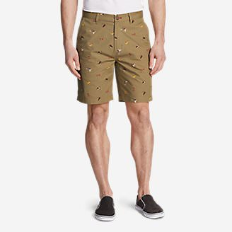 Men's Camano Shorts - Print in Brown