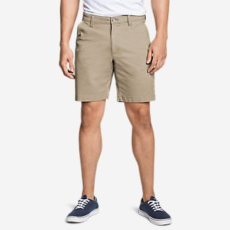 Men's Legend Wash Flex Chino 9' Shorts in Beige