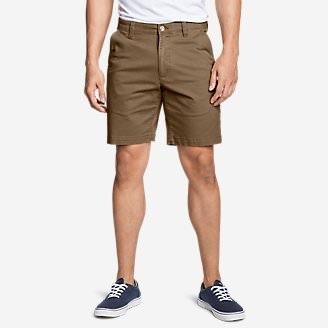 Men's Legend Wash Flex Chino 9' Shorts in Brown