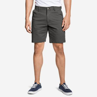Men's Legend Wash Flex Chino 9' Shorts in Gray