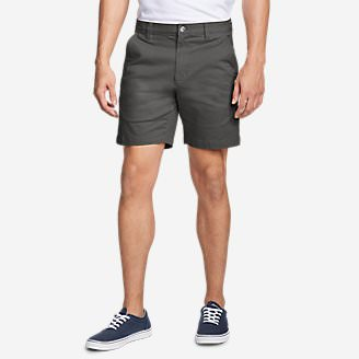 Men's Legend Wash Flex Chino 7' Shorts in Gray