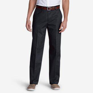 Men's Performance Dress Flat-Front Khaki Pants - Classic Fit in Blue