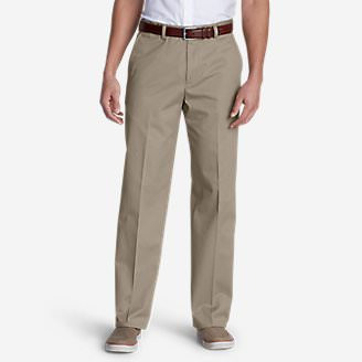 Men's Performance Dress Flat-Front Khaki Pants - Classic Fit in White
