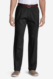 Men's Performance Dress Pleated Khaki Pants - Classic Fit in Black