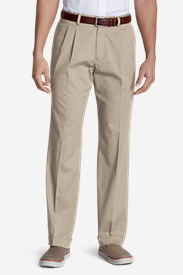 Men's Performance Dress Pleated Khaki Pants - Classic Fit in White