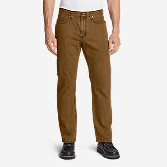 Men's Authentic Jeans - Relaxed Fit in Brown
