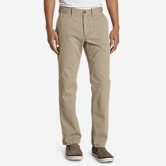 Men's Legend Wash Chino Pants - Classic Fit in Beige