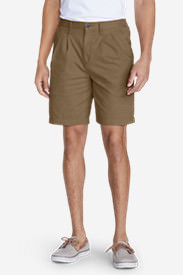 Men's Legend Wash Side-Elastic Chino Shorts in Brown