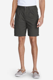 Men's Legend Wash Side-Elastic Chino Shorts in Gray