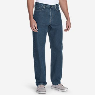 Men's Traditional Fit Essential Jeans in Blue