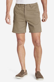 Men's Legend Wash 7' Chino Shorts - Solid in Brown