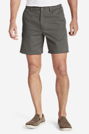 Men's Legend Wash 7' Chino Shorts - Solid in Gray