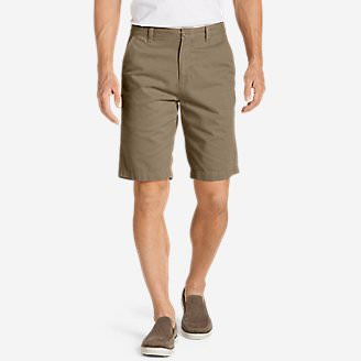 Men's Legend Wash 11' Chino Shorts - Solid in Brown