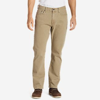 Men's Flex Jeans - Straight Fit in Beige