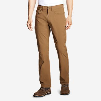 Men's Horizon Guide Five-Pocket Jeans - Straight Fit in Brown