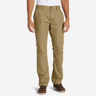 Men's Lined Canvas Mountain Pants in Brown