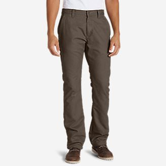Men's Lined Canvas Mountain Pants in Gray