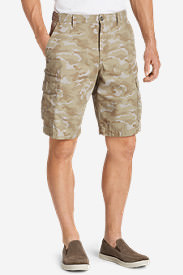 Men's Versatrex 11' Cargo Shorts - Print in Beige