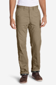 Men's Flannel-Lined Cargo Pants in Brown