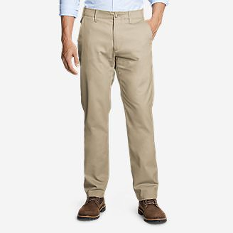 Men's Flex Sport Wrinkle-Resistant Chino Pants in Beige
