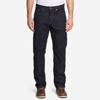 Men's Flannel-Lined Flex Jeans - Straight Fit in Multi