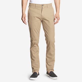 Men's Flex Legend Wash Chino Pants - Slim Fit in Beige