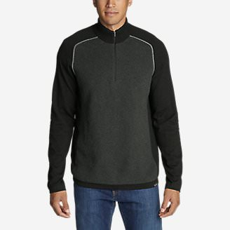 Men's Talus Textured 1/4-Zip Sweater in Black