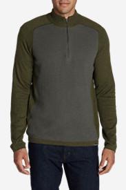 Men's Talus Textured 1/4-Zip Sweater in Green