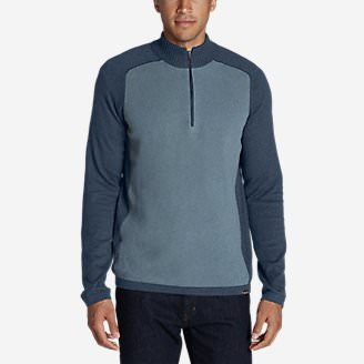 Men's Talus Textured 1/4-Zip Sweater in Blue