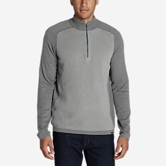 Men's Talus Textured 1/4-Zip Sweater in Gray