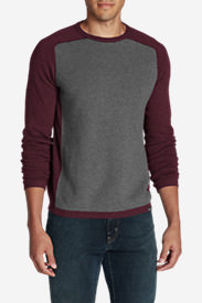 Men's Talus Textured Crewneck Sweater in Red