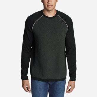 Men's Talus Textured Crewneck Sweater in Gray