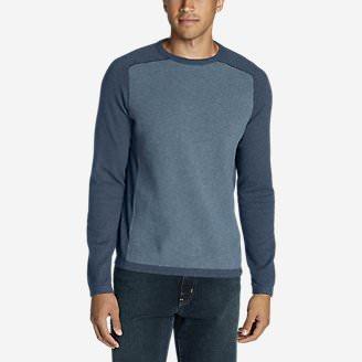 Men's Talus Textured Crewneck Sweater in Blue