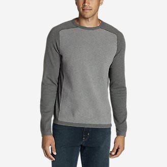 Men's Talus Textured Crewneck Sweater in Gray