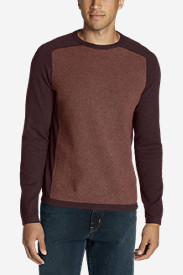 Men's Talus Textured Crewneck Sweater in Orange