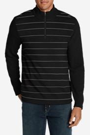 Men's Long-Sleeve Sidecut 1/4-Zip Sweater in Black