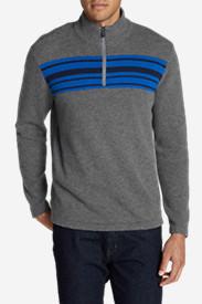 Men's Long-Sleeve Sidecut 1/4-Zip Sweater in Gray