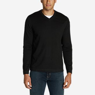 Men's Talus V-Neck Sweater in Black