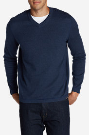 Men's Talus V-Neck Sweater in Blue