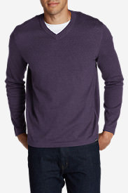 Men's Talus V-Neck Sweater in Purple